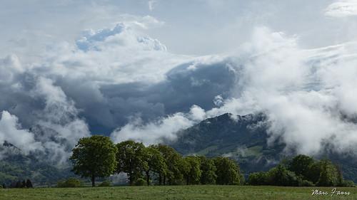 Front froid sur les Alpes