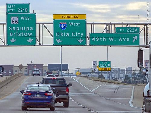 I-44 West to Okla City, 27 Dec 2019