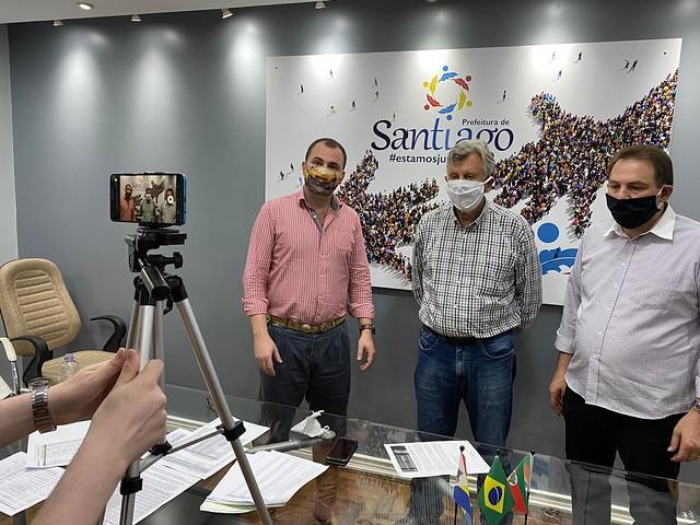 11/05/2020 Entrevista Blog do vereador Rafael Nemitz e visita Prefeitura de Santiago