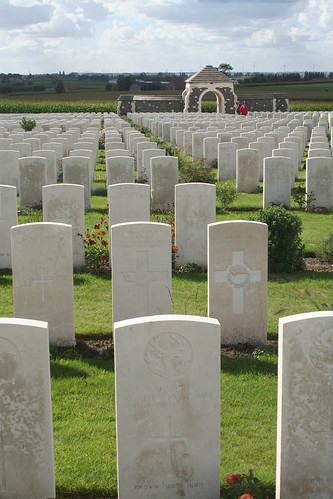 The endless rows of Tyne Cot