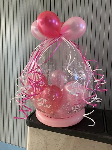 Kadoballon Fuchsia Roze Verjaardag