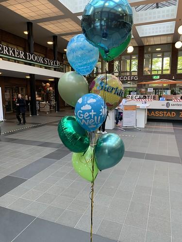 Ballonboeket Groen Beterschap Sterkte Maasstad Ziekenhuis Rotterdam