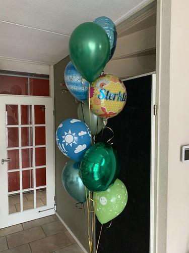 Ballonboeket Groen Beterschap Sterkte