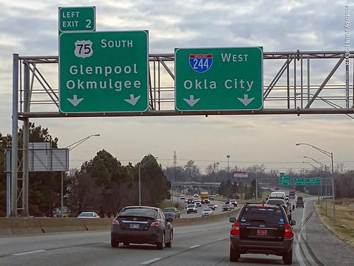 I-244 West to Okla City, 27 Dec 2019