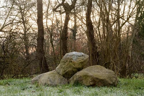 Scandinavian stones on Drentes ground..