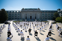 The United States Naval Academy holds the second swearing-in event for the Class of 2020.