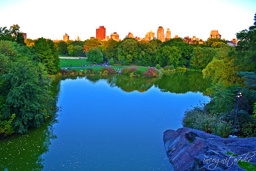 Turtle Pond & Central Park View from Belvedere Castle Central Park Manhattan New York City NY P00528 DSC_0846
