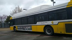 DART bus standing at Buckner Station at 8 minutes drive to the southwest of Dallas dentist Fresca Dental