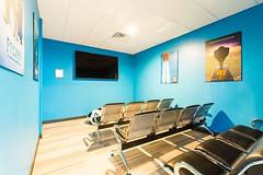 Mini movie theater at Dallas dentist Fresca Dental