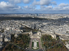 A northwestern view from the Eiffel Tower
