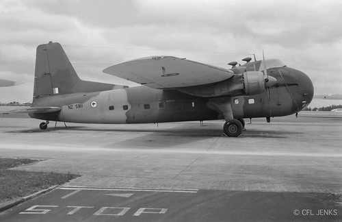 18 December 1975, RNZAF 1 Squadron Bristol Freighter NZ5911 at Whenuapai
