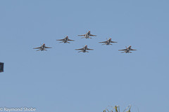 Air Force Thunderbirds flying over Carlsbad CA