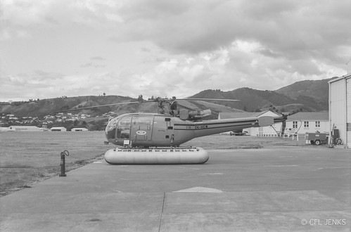February 1970, Helicopters NZ Alouette III ZK-HCW at Nelson