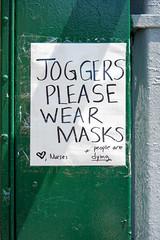 Joggers Please Wear Masks