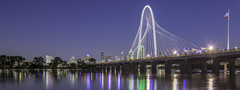 Margaret Hunt Hill Bridge Over The Flooded Trinity River Panorama