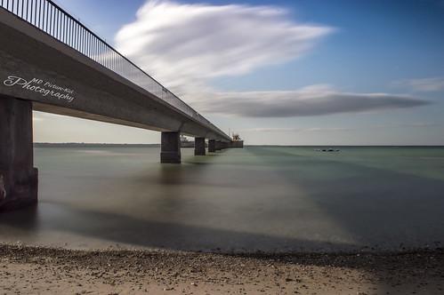 Schwedeneck bridge ang beach