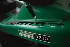 Mower transmission equipment closeup.