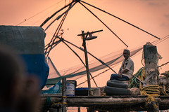 The fisherman. Kochi, Kerala. India