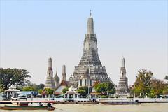 Le Wat Arun, temple de l'Aube (Bangkok, Thaïlande)