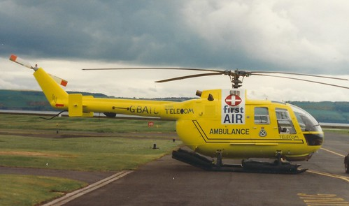 Dundee South Africa Picture : MBB Bo105 G-BATC at Dundee in late 80s.
