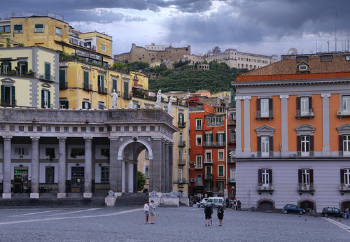 A view on Castel Sant'Elmo from Piazza del Plebiscito