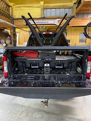 An Aluminum Truck Bed Cover On A Ford Super Duty