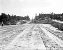 Aurora Avenue under construction, 1932