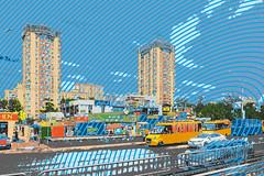 Two Blocks Kiev, Ukraine; Blue Ellipses