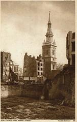 1943 Postcard The Church and Bread Street 6a