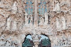 The Nativity Facade of La Sagrada Familia in Barcelona - Spain