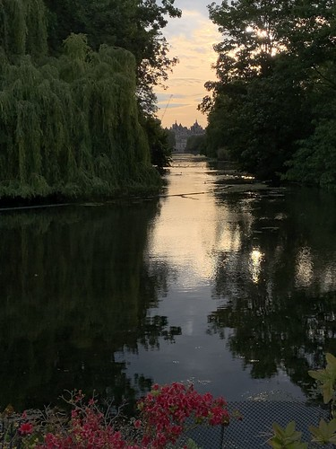 Lovely reflection on the lake in St James's Park