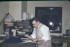 Building Department engineer at work, circa 1956