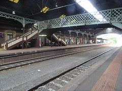 Geelong. This railway station was built in 1877. The railway line from Melbourne reached Geelong in 1854.