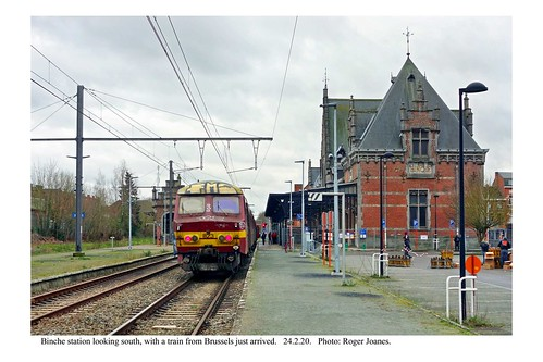 Binche station, with a train just arrived from Brussels. 24.2.20