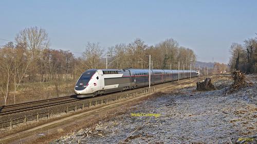 TGV 2N Rame 817 Train 6704 Mulhouse-Paris GdL à Zillisheim