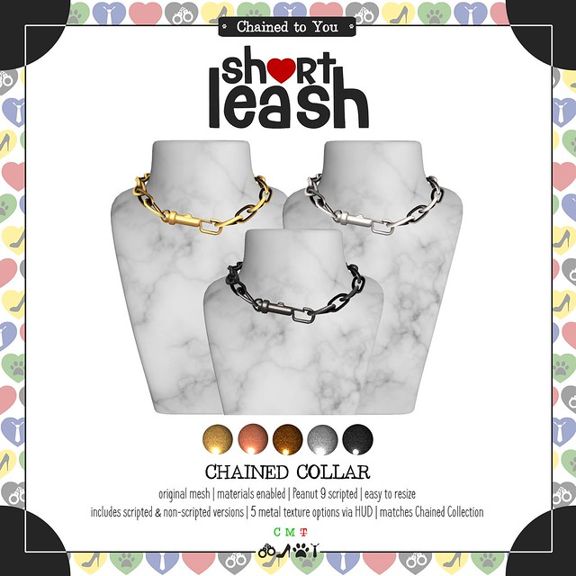 .:Short Leash:. Chained Collar