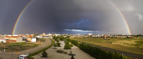 Rainbow on skyline Manzanares