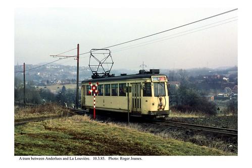 Anderlues - La Louvière (between) tram. 10.3.85