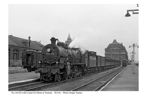 Tournai. 64.145 & train for Mons. 18.8.61