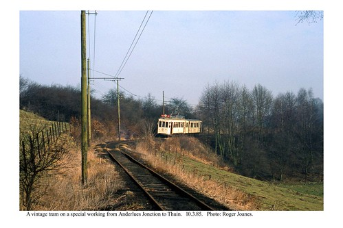 Thuin line tram in the country. 10.3.85
