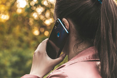 Woman talking on her mobile phone on outdoor