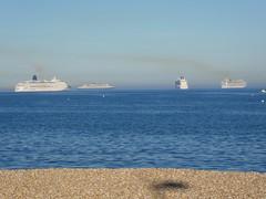 4 Cruise Ships in Weymouth Bay