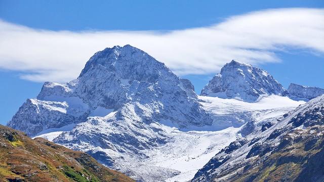 Der Piz Buin, 3312 m, eines unserer Gipfelziele in der Silvretta.