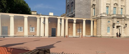Buckingham Palace has had a new extension but it is fake - a trompe l'oeil  Illusion.