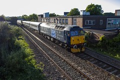 Rail Operations Group 47813 'Jack Frost' passing through Canton, Cardiff with 10 MkII carriages