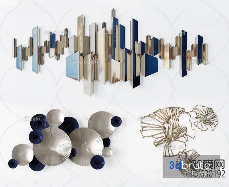 Wall Decoration 3D Model Free Download from farm66.staticflickr.com