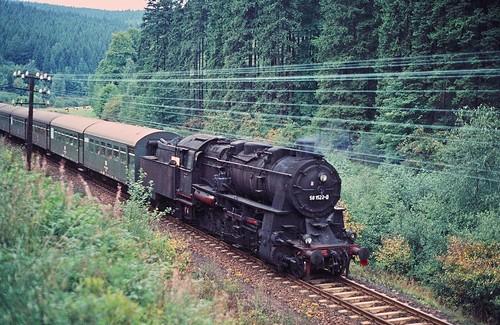DR 58 1522-0 (ex 58 1522; ex P.St.B. G 12 5595 Cöln; Henschel 1919) Bw Aue