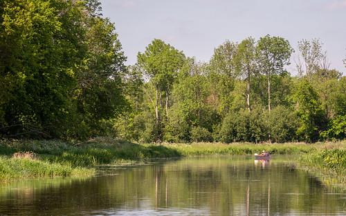 Kanoën op de Hunze