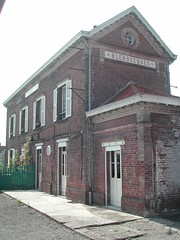 Gare du Blendeques: CFT de la Vallée de l'Aa: Arques-Lumbres Railway, Nord pas de Calais, France 27th July 2004