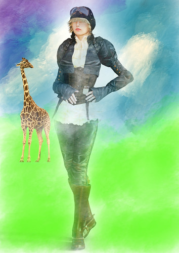 """Hey, What Are You Doing In My Painting"" Said The Giraffe"